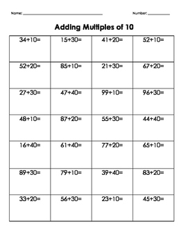 Adding Multiples of 10