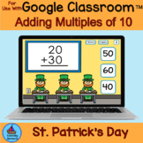 Adding Multiples of 10 St Patrick's Day Leprechauns for Go