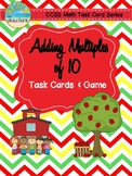 Back to School Adding Multiples of 10 Task Cards & Game 1.NBT.4