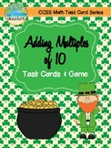 March Themed Adding Multiples of 10 Task Cards & Game