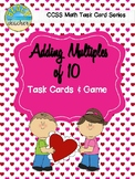 Adding Multiples of 10 Task Cards & Game (Valentine's Day)