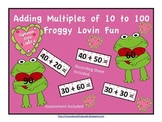 Adding Multiples of 10 to 100 Froggy Lovin Fun (Common Core Aligned)