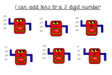 Adding Multiples of 10 to 2 and 3 Digit Numbers Place Value Counters