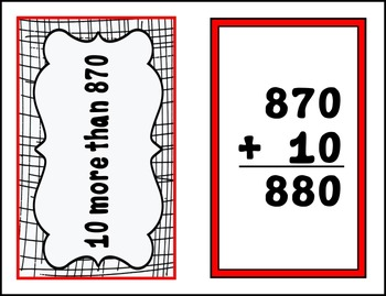 Adding and Sutracting Multiples of 10's and 100's --- Large Flashcards