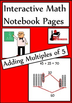 Adding Multiples of 5 Lesson for Interactive Math Notebooks