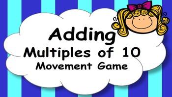 Adding Multiples of Ten Mental Maths Game, Brain Break or Maths Warm Up