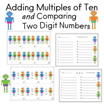 Addition Multiples of Ten and Comparing Two Digit Numbers