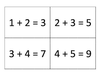 Adding Near Doubles Fact flashcards with answers