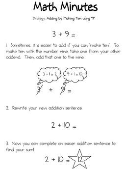 Adding Nine by Making Ten