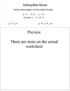 Adding Notes Worksheet