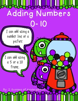 Adding Numbers 0 - 10 Monster & Gumball Theme (ten frames & number path)