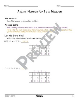 Adding Numbers Math Video & Worksheet