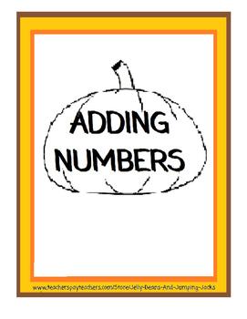 Adding Numbers - Pumpkin Worksheets