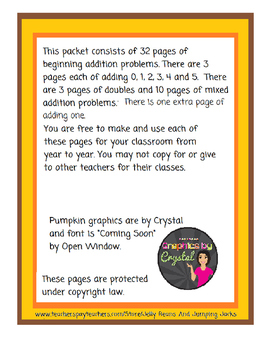 Adding Numbers - Pumpkin Worksheets