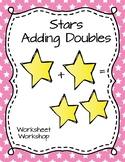 Stars Adding Doubles Worksheet