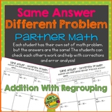 Adding  Numbers with Regrouping- Partner Activity