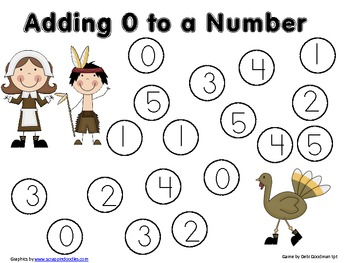Adding O to Numbers-Beginning Addition--2nd quarter holidays