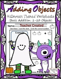 Adding Objects (1 to 10 Objects) Halloween Theme 1-10 objects