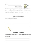 """""""Adding On Details"""" Writers Workshop Activity Page"""