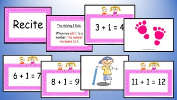 Adding One Addition Facts Mental Maths Game, Brain Break or Maths Warm Up