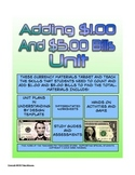 Adding One And Five Dollar Bills Money Math Packet