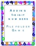 Adding One Digit Numbers-A Fun File Folder Game (Grades k-1)