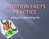 Adding One and Adding Zero to a number math facts practice Power Point game