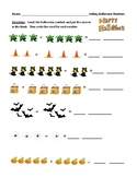 Adding One to Ten Halloween Review Worksheet