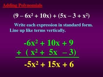 Adding Polynomials