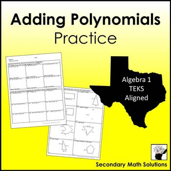 Adding Polynomials Practice  (A10A)