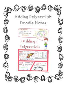 Adding Polynomials Doodle Notes