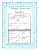 Adding Polynomials Practice