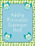 Adding Polynomials Scavenger Hunt