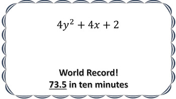 Adding Polynomials (Task Cards, Notes & Video Lesson) -  Food World Records!