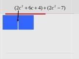 Adding Polynomials with Algebra Tiles