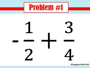 Adding Positive and Negative Fractions Trail A