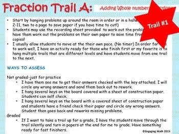 Adding Positive and Negative Fractions (Trail Bundle - 3 leveled trails)