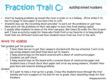 Adding Positive and Negative Fractions Trail C (All Mixed Numbers)