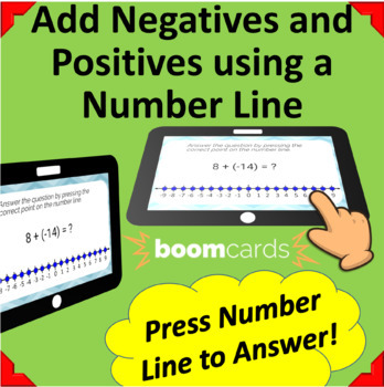 Adding Positive and Negative Integers - 15 Boom Learning Cards