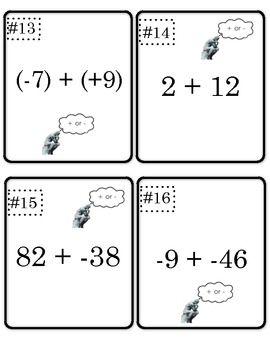 Adding Positive and Negative Integers Scoot