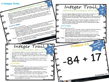 Adding Positive and Negative Rational Numbers (Trail Bundle- 9 Trails)