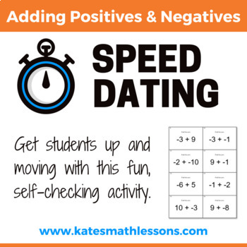 Adding Positives and Negatives Speed Dating Activity
