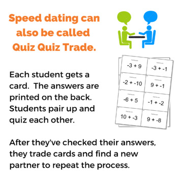 Speed dating question cards