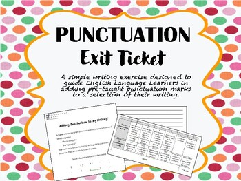 Punctuation Exit Ticket