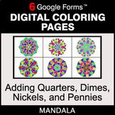 Adding Quarters & Dimes & Nickels & Pennies - Digital Mand