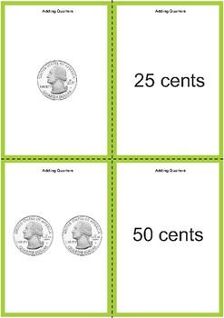 Adding Quarters Matching Cards