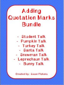 Adding Quotation Marks Bundle