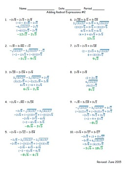 Adding Radicals #2 (HSN.RN.A.1)