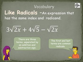 Adding Radicals (HSN.RN.A.1)