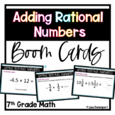 Adding Rational Numbers BOOM™ Digital Task Cards